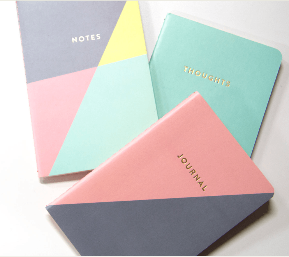 Triangle Pocket Journals Set of 3 Accessories- Tristin