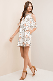 Cold Shoulder Floral Dress with Pockets Dresses- Tristin