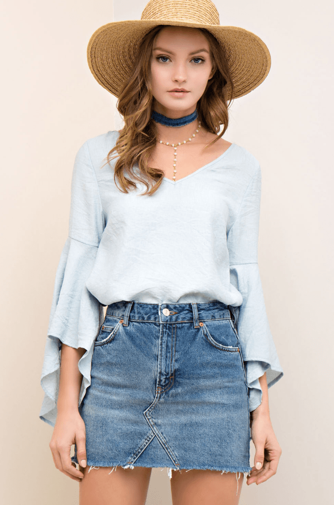 Jasmine Lace Up Back Top Tops- Tristin