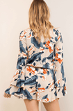 Paradise Floral Bell Sleeve Romper Romper- Tristin