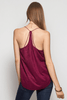 Faux Suede Strapy Cami Top Tops- Tristin