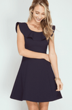 Ruffle Top Fit n Flare Party Dress Dresses- Tristin