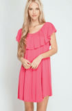 Ruffle Top Swing Dress Dresses- Tristin