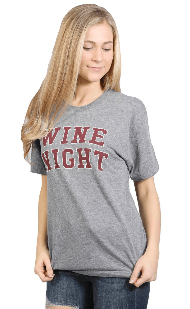 Friday + Saturday Wine Night Graphic Tee Tops- Tristin