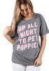 Friday + Saturday Up All Night to Pet Puppies Graphic Tee
