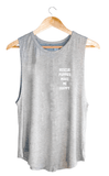 Rescue Puppies Make Me Happy Tank - Light Grey Tops- Tristin