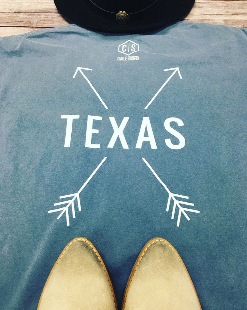 Charlie Southern Texas Arrow Oversized Tee Tops- Tristin