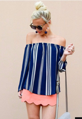 Stripe Midi Bodycon Dress