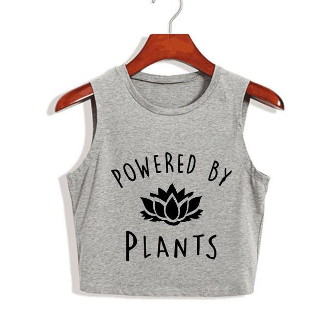 Powered by Plants High Neck Crop Top