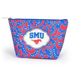Southern Methodist University Cosmetic Travel Pouch Accessories- Tristin
