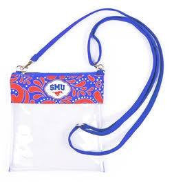 Southern Methodist University Clear Crossbody Bag - Stadium Approved Accessories- Tristin