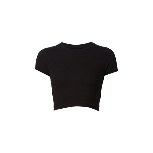 Jessica double tie crop top (Black)
