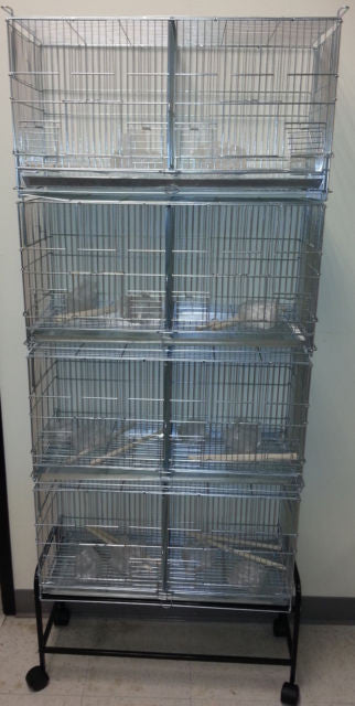 4 cages with divider and stand