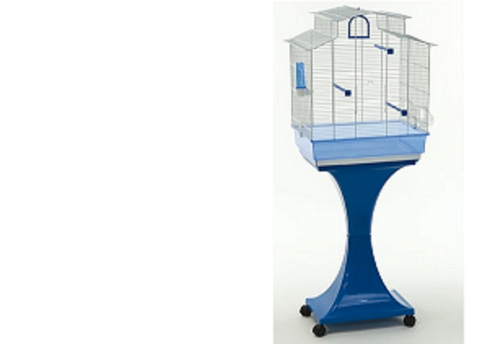 Cage on stand with wheels