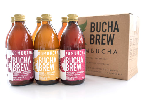 Bucha Brew Kombucha - Mixed 6 Pack - Sprout Farm Delivery