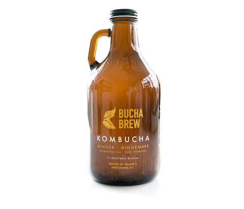 Bucha Brew Kombucha - Ginger 1L Growler - Sprout Farm Delivery