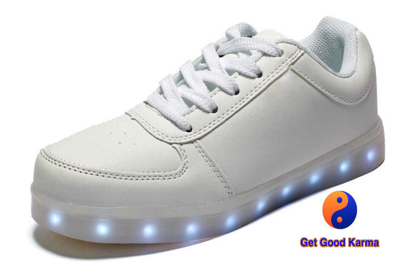 White LED Light Up Sneaker Shoe