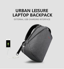 Premium Oxford Waterproof Scratch Resistant Laptop Backpack with External USB Port