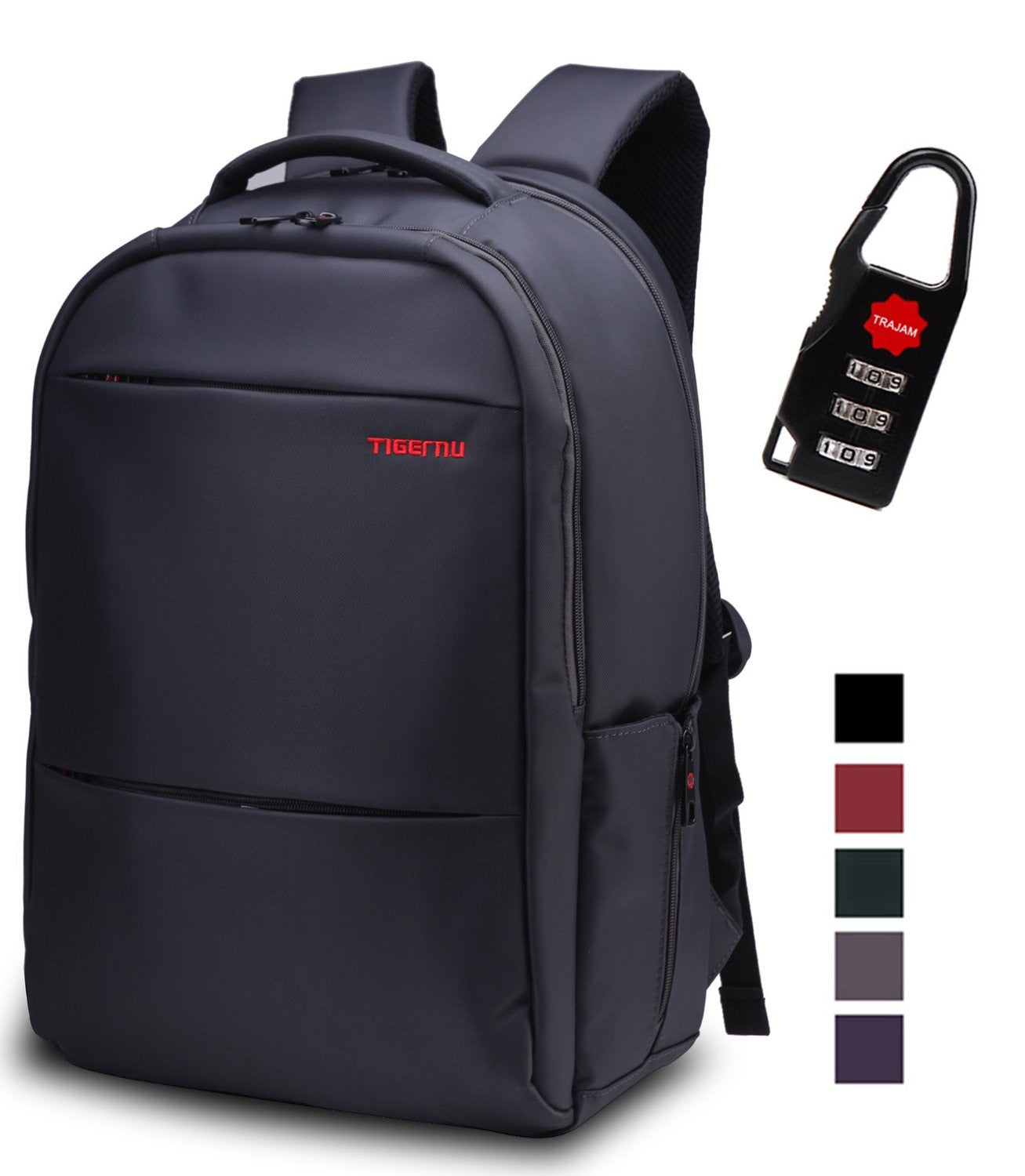 cff0600895 SAFE PACK - Laptop Backpack waterproof with anti-thef nylon Tigernu -  itechitrek