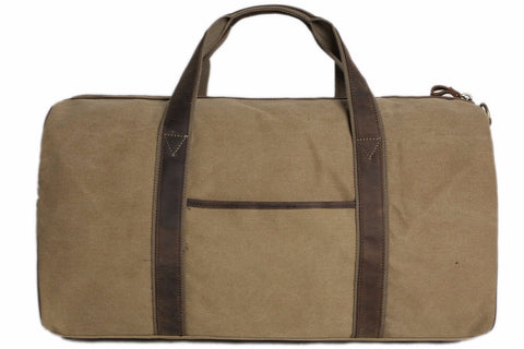 Handcrafted Waxed Canvas Duffle Bag Travel Bag Holdall Luggage Bag Overnight Bag - itechitrek