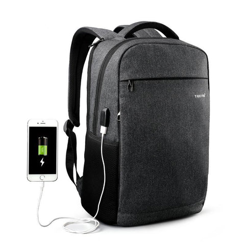 USB External Charging laptop backpack with Mesh pockets