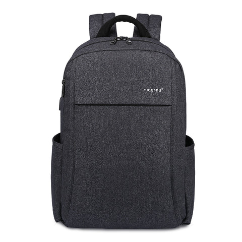 Water Resistant Business laptop backpack with External USB