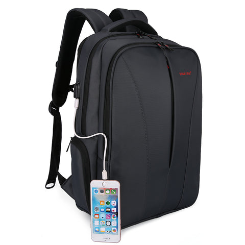 Stylish Sleek Professional Laptop Backpack with External USB Port
