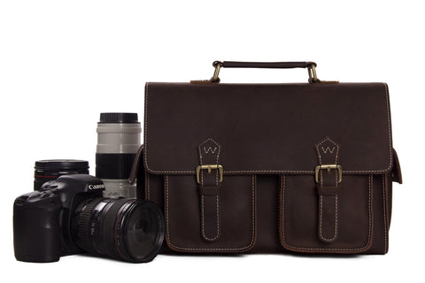 Moshi Genuine Cowhide Leather DSLR Camera Bag - itechitrek