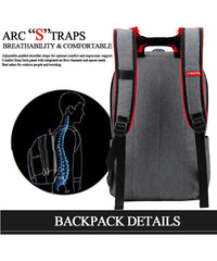 Backpack with back support straps