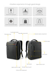 Exclusive Professional and Leisure Waterproof Scratch Resistant Laptop Backpack with External USB | BOSS BAG