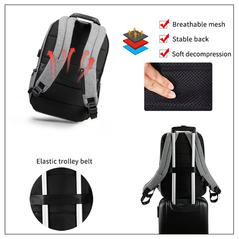 FASHION CHARGED - Sleek urban backpack water-resistant protection
