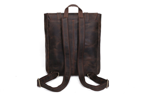 Antique Genuine Leather Travel Backpack