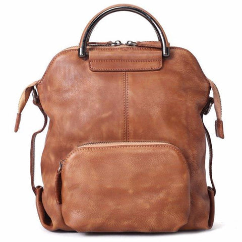Handmade Full Grain Leather Backpack, Rucksack, School Backpack, Travel Backpack