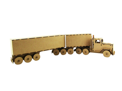 B Double Truck - With Moving Parts and Wheels - The Australian Puzzle Company