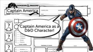 Building Captain America as a D&D 5e Character