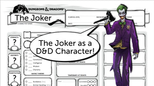 Building The Joker as a Dungeons and Dragons Character