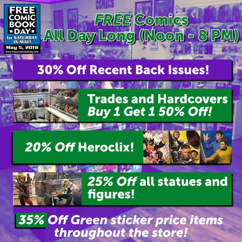 Free Comic Book Day Sales at The Freakopolis Geekery.