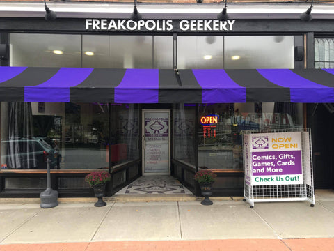 Front of The Freakopolis Geekery