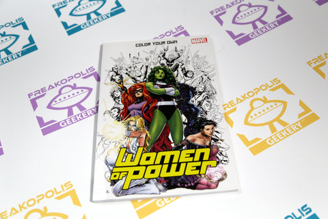 Marvel Women of Power Coloring Book Cover