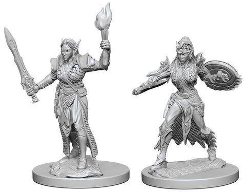 Pathfinder Deep Cuts Unpainted Miniatures: W1 Elf Female Fighter