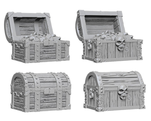 WizKids Deep Cuts Unpainted Miniatures: W2 Chests