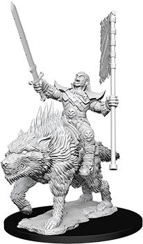 Deep Cuts Unpainted Miniatures: W7 Orc on Dire Wolf