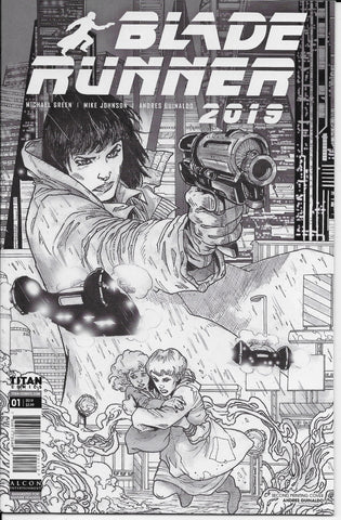 Blade Runner 2019 #1 (Black and White Variant Cover) Front