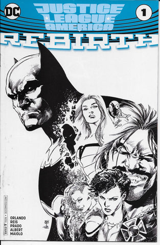Justice League America Rebirth #1 (Sketch Variant) Front