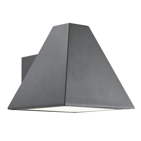 Ip44 Pyramid Grey Outdoor Wall Bracket