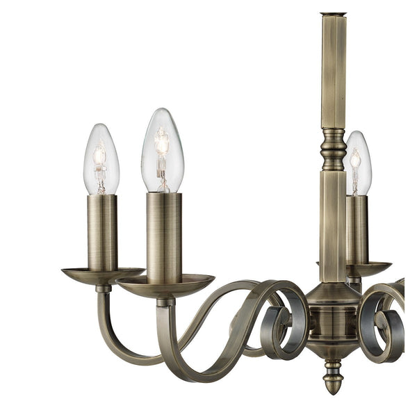 Richmond 5 Light Ceiling Fitting With Candle Style Sconces (+More Colours)
