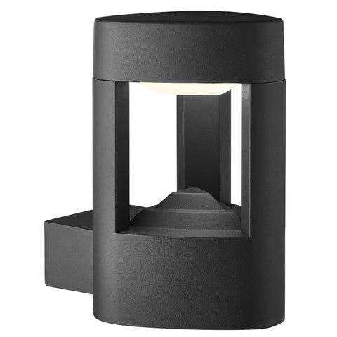 Ip44 Grey Led Outdoor Wall Light With Clear Diffuser