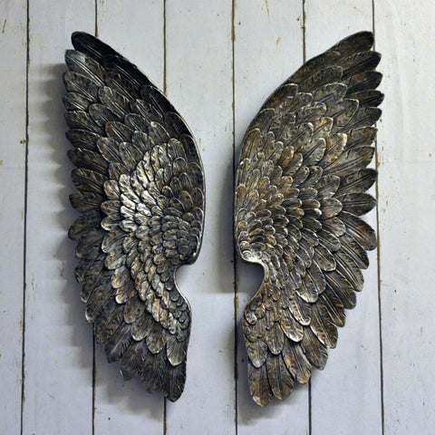 37cm Antique Silver Left/Right Wings (+More Colours)