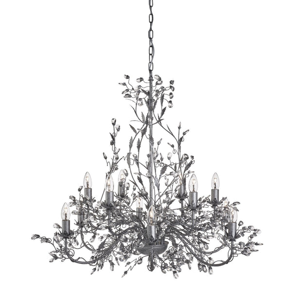 Almandite 12 Light Chandelier With Crystal Dressing (+ More Colour)