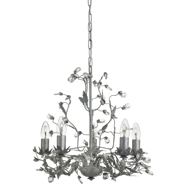 Almandite 5  Light Chandelier With Crystal Dressing (+ More Colour)